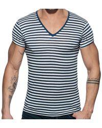 Addicted T-Shirt Sailor Marinière - Bleu