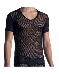 MANSTORE T-Shirt Col V M2053 - Noir