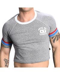 Andrew Christian - T-Shirt Crop Phys. Ed. - Lyst