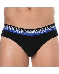 Emporio Armani Slip Double Eagle Coton - Noir