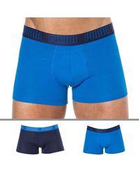 PUMA 2-pack Basic Cotton Boxer Briefs - Blue