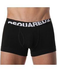 DSquared² Lot de 2 Boxers Logo - Noir