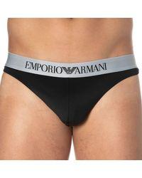 Emporio Armani String Bonding Microfiber - Noir