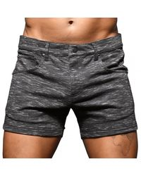 Andrew Christian Short Jeans Stretch Skinny - Gris
