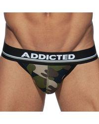 Addicted Jock Strap Basic Colors Camouflage Kaki - Noir