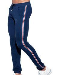 ES COLLECTION Pantalon Sport FIT Tape Marine - Bleu