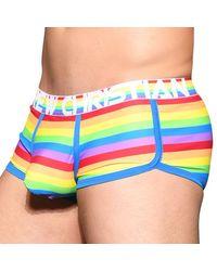 Andrew Christian Almost Naked Pride Stripe Trunks - Multicolour