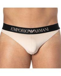 Emporio Armani String Bonding Microfiber Chair - Noir