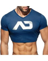 Addicted T-Shirt Crop AD Marine - Bleu