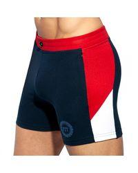 ES COLLECTION Pique Fit Sport Shorts - Blue
