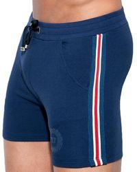 ES COLLECTION Fit Tape Sport Short - Blue