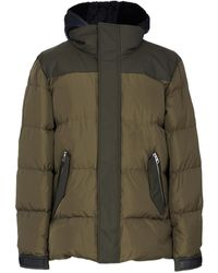 Mackage Reynold Down Coat With Removable Shearling Bib And Hood In Army - Men - Green