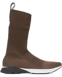 Reebok Sock Runner Ultraknit- Moss/black/white - Brown