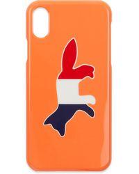 Maison Kitsuné Iphone X Case Tricolor Fox - Orange