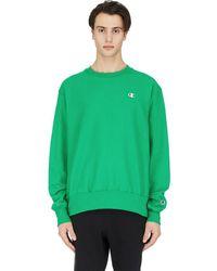 Champion Reverse Weave Crew Neck Pullover - Green
