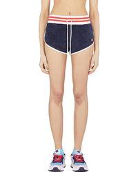 Champion Terry Cloth Allover Jacquard 'c' Logo Shorts - Blue
