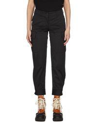 Yves Salomon Cotton Cropped Pants - Black