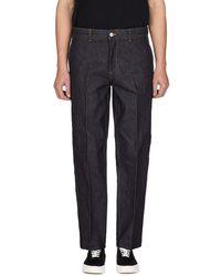 Maison Kitsuné Cropped Pants - Blue