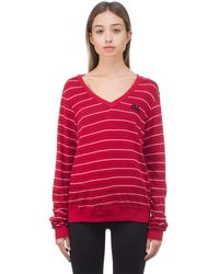 Wildfox Not Ok Baggy Beach Pullover - Red