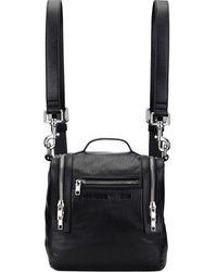McQ Loveless Mini Convertible Box Bag - Black