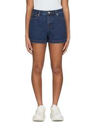 A.P.C. High Standard Shorts - Blue