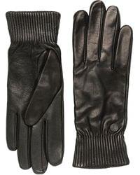 Canada Goose Black Label Leather Rib Gloves
