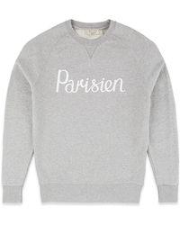 Maison Kitsuné Parisien Pullover Sweater - Gray