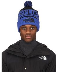 The North Face Retro Tnf Pom Beanie - Blue