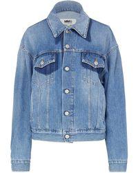 MM6 by Maison Martin Margiela Shadow Denim Jacket - Blue