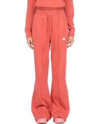 Champion Vintage Dyed High Waist Fleece Wide Leg Sweatpants - Pink