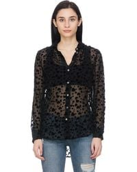Equipment Essential Crushed Heart Blouse - Black