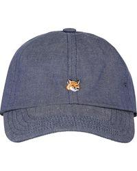 Maison Kitsuné Small Fox Head Cap - Blue