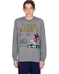 Love Moschino World Champion Long Sleeve T-shirt - Grey
