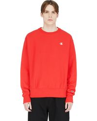 Champion Reverse Weave Crew Neck Pullover - Red