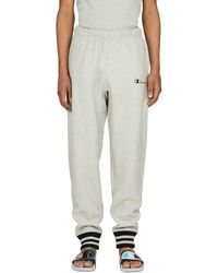 Champion Reverse Weave Yarn Dye Rib Trim Sweatpants - Gray