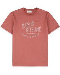 Maison Kitsuné Palais Royal T-shirt - Pink