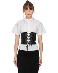 McQ Lace-up Corset Belt - Black