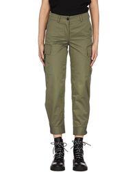 Yves Salomon Cotton Cropped Pants - Green