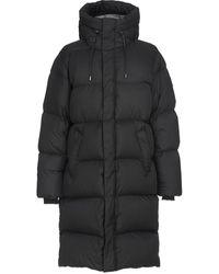 Mackage Elio Foil Shield Maxi Down Coat With Pillow Collar In Black - Men