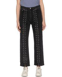 McQ Lace Up Jeans - Black