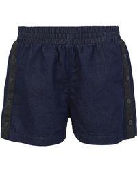3x1 - Side Snap Shorts - Lyst