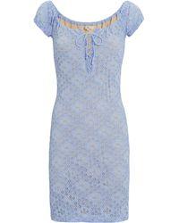 e207d3ae09adb Nightcap Pom Fringe Coverup Maxi Dress in White - Lyst