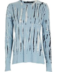 Proenza Schouler Tie-dye Long Sleeve T-shirt - Blue