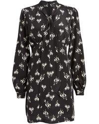 RE/DONE 60's Bow Silk Mini Dress - Black