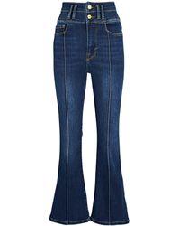 FRAME Le Catroux Crop Mini Boot Jeans - Blue
