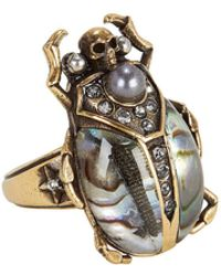 Alexander McQueen - Beetle Metallic Ring - Lyst