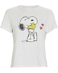 RE/DONE Snoopy & Woodstock Classic T-shirt - White