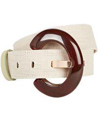 Lizzie Fortunato Sofia Linen Belt - Natural