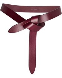 Isabel Marant - Lecce Knotted Leather Belt - Lyst