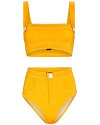 OYE Swimwear Lavinia Bandeau Bikini Set - Yellow